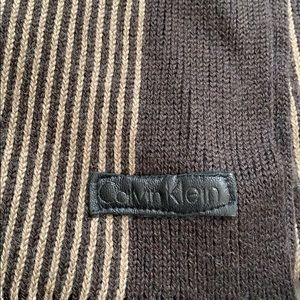 Calvin Klein scarf, unique pattern, brown/beige